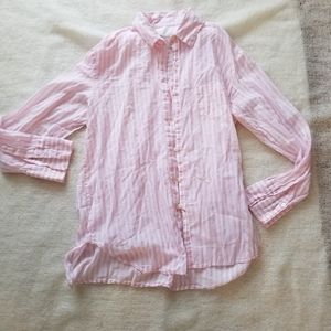 Victoria's secret pink striped button down